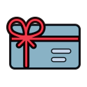 gift card with a bow graphic