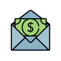 money in an envelope graphic
